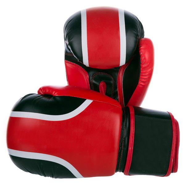 Red black boxing gloves