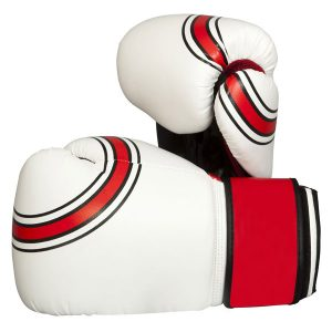 White-Leather-Boxing-Gloves