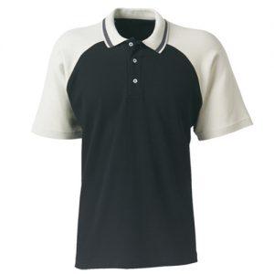 Black-white-short-sleeves-cotton-Polos