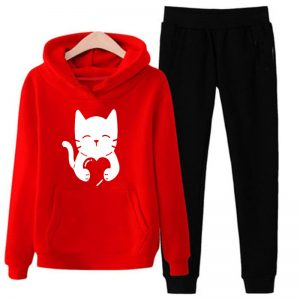 Red-Pullover-Tracksuit